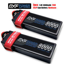 2PCS Lipo Battery 2S 7.4V 7.6V 8000mAh 7000mAh 6500mAh 5200mAh 110C 220C 60C 120C 50C 100C 130C 260C HV Hardcase for Rc Car