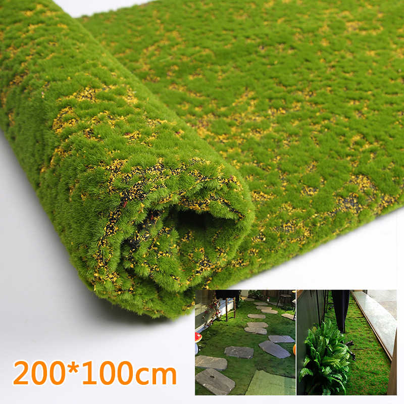 Living Room Artificial Moss Accessories Fake Outdoor Green Plants