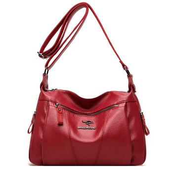 Nowe mody miękkie skórzane torby damskie torebki na ramię luksusowe torebki damskie torebki projektant torebki Crossbody dla kobiet 2021 torba tanie i dobre opinie Na co dzień torebka Torby na ramię CN (pochodzenie) Mikrofibra Skóry Syntetycznej Zipper hasp SOFT Ił kieszeń ziwu-016