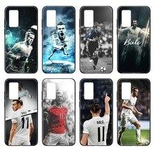 цена на Wales football athlete Gareth Bale black Phone case For Huawei nova P Y 2 3 6 7 8 9 10 20 30 I Smart Plus Z Lite Pro II Prime