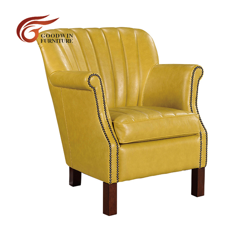 Wood fancy restaurant leisure leather arm chair and zero gravity recliner chair WA449