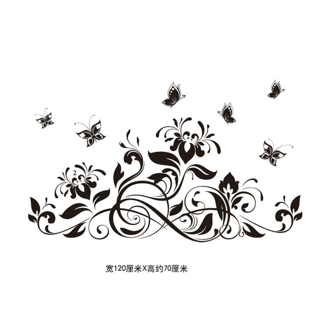 3D Butterfly beautiful Flower Wall Sticker Wall Decals For Kids Room Bedroom Living Room home decor for Sofa TV 4