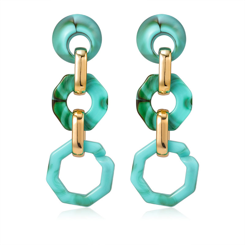 2020 Geometric Acrylic Big Drop Earrings for Women New Fashion Vintage Statement Resin Long Gold Dangle Hanging Earrings Jewelry