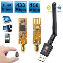 600 mb/s dwuzakresowy 5GHz bezprzewodowy Lan USB PC WiFi Adapter w/antena 802.11AC Wi-Fi antena Adapter Wifi Laptop PC odbiornik RTL8811