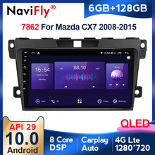 6G + 128G QLED RDS 4G LTE Carplay Android 10 Für Mazda Cx-7 cx7 2008-2015 auto stereo audio auto GPS Navigation bildschirm multimedia