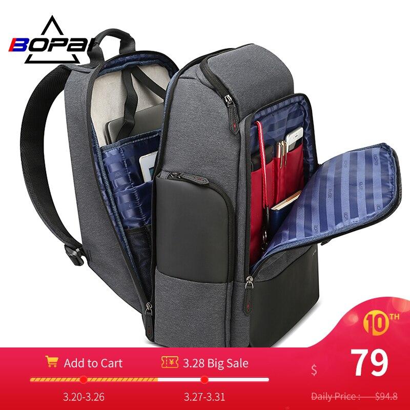 BOPAI 2019 hommes grand voyage sac à dos week-end voyage sac à dos grand sac à dos mâle étanche 17 pouces sac à dos pour ordinateur portable femmes sac à dos