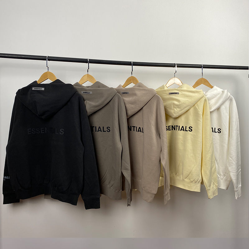 2021 New Hoodies Sweatshirts fog 100%1:1 Essentials Kanye West Jerry Lorenzo Loose Oversized cotton Sweatshirts Zip Hoodie