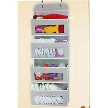 Household Hanging Organizer sundries storage and sorting storage bags Door Wall Installation 4 Transparent Pocket Hook Storage