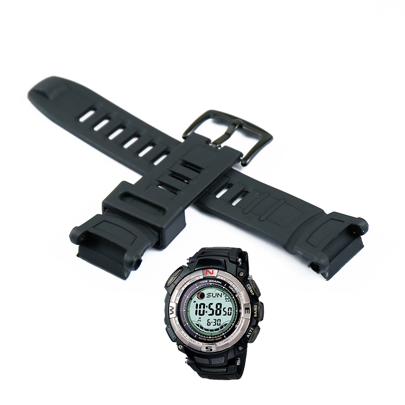 Resin Strap Men's Pin Buckle For Casio PRG-130Y PRW-1500 Outdoor Sports Waterproof Rubber Strap Ladies Watch Band