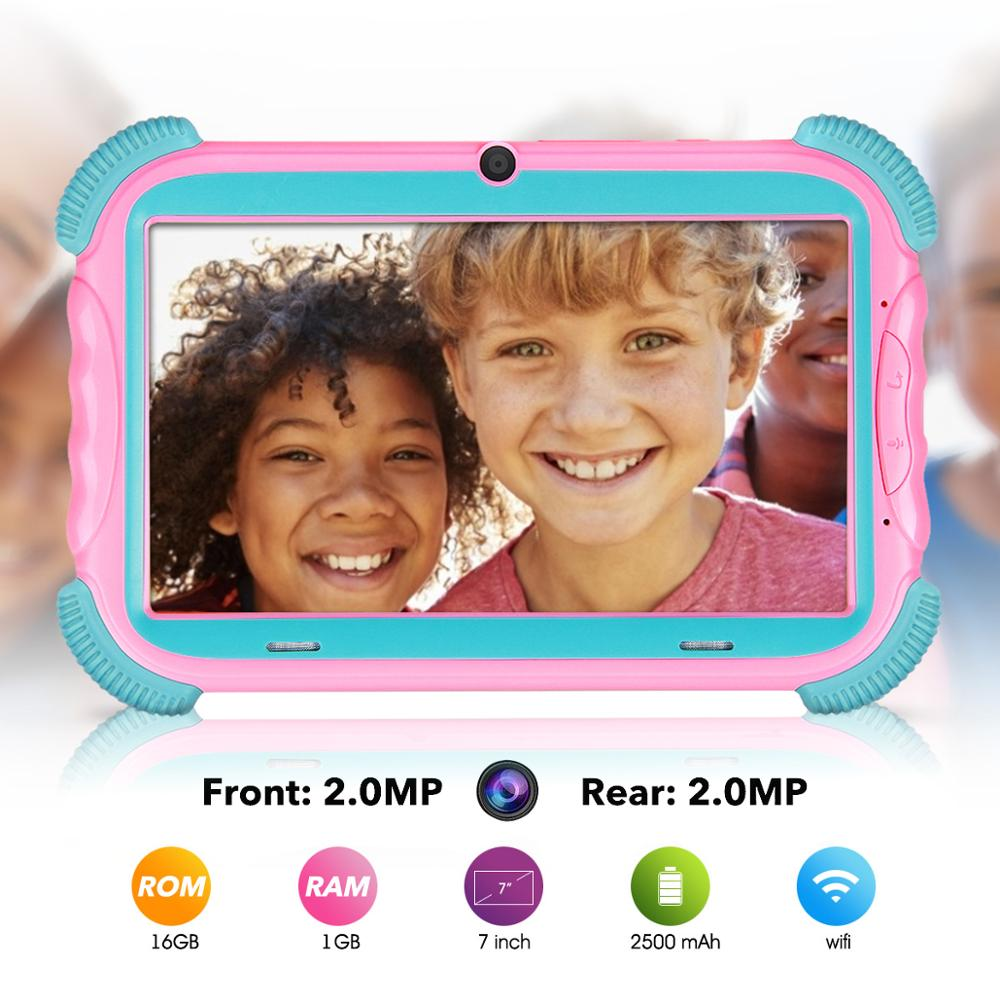 Free Shipping 7 Inch Android 8.1 Kids Tablet 16GB  PC With Wifi And GMS Certified Supported Kids-Proof Case Tablet For Children