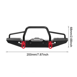 Image 2 - TRX 4 מתכת פגוש קדמי עם Led אור עבור 1/10 RC Crawler רכב Traxxas TRX4 D90 D110 Defender צירי SCX10 90046 שדרוג חלקים