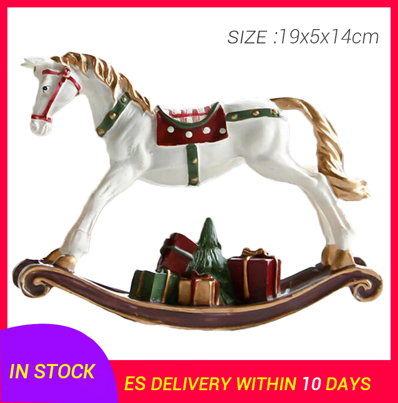 Earnest 1pcs Ornament Creative Funny Beautiful Hobbyhorse Craft Hobbyhorse Figurines Miniatures For Home Store Kid Room Decoration Craft