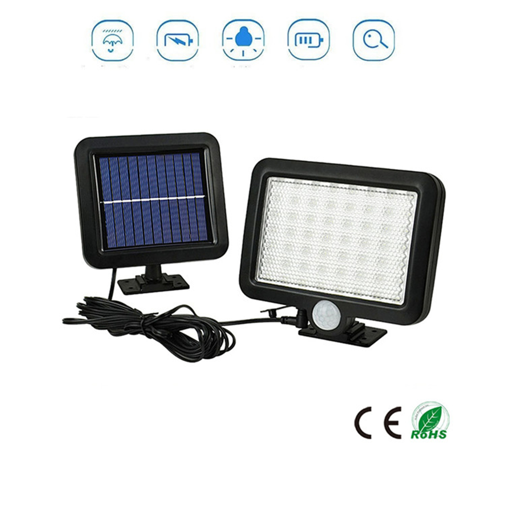 56/30 LED Solar Lamp Charged Solar Energy Light Powered Emergency Bulb For Outdoor Garden Camping Tent Fishing Split Mount 5M Ca
