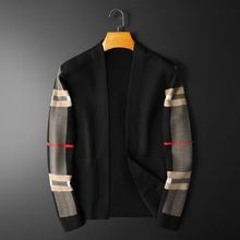 2021 spring and autumn men's knitted cardigan coat casual Joker cardigan loose youth casual sweater