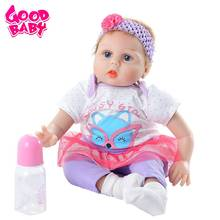 Hot Reborn Baby Doll 55cm Newborn Toys Christmas Gifts Doll Kids Girl Playmate Birthday Gift Lifelike Cute Baby Boneca Doll Toys npk 55cm girl baby newborn doll set silicone lifelike reborn dolls for kids playmate gift an88