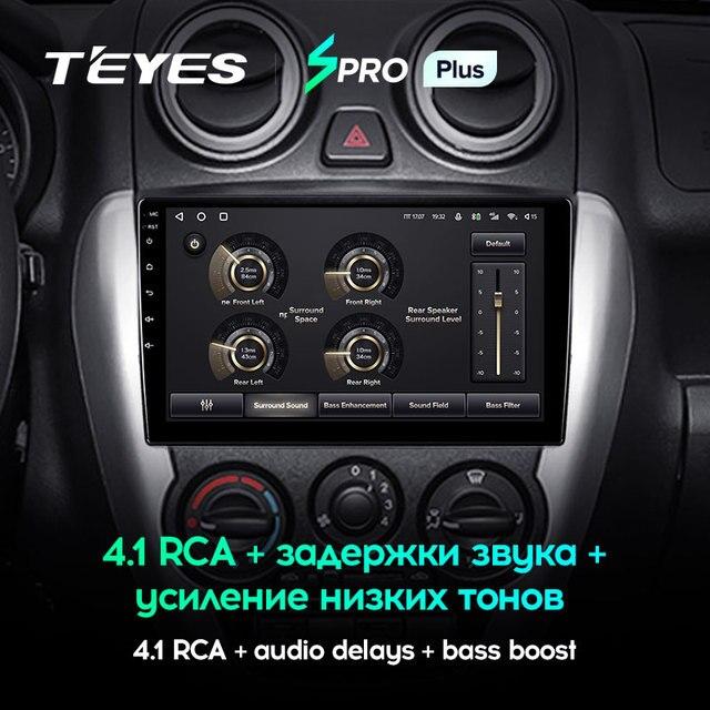 TEYES SPRO Plus Штатная магнитола For Лада ВАЗ Гранта Спорт For LADA Granta Sport 2011 - 2018 Android 10, до 8-ЯДЕР, до 4 + 64ГБ 32EQ + DSP 2DIN автомагнитола 2 DIN DVD GPS мультимедиа автомобиля головное устройство 4