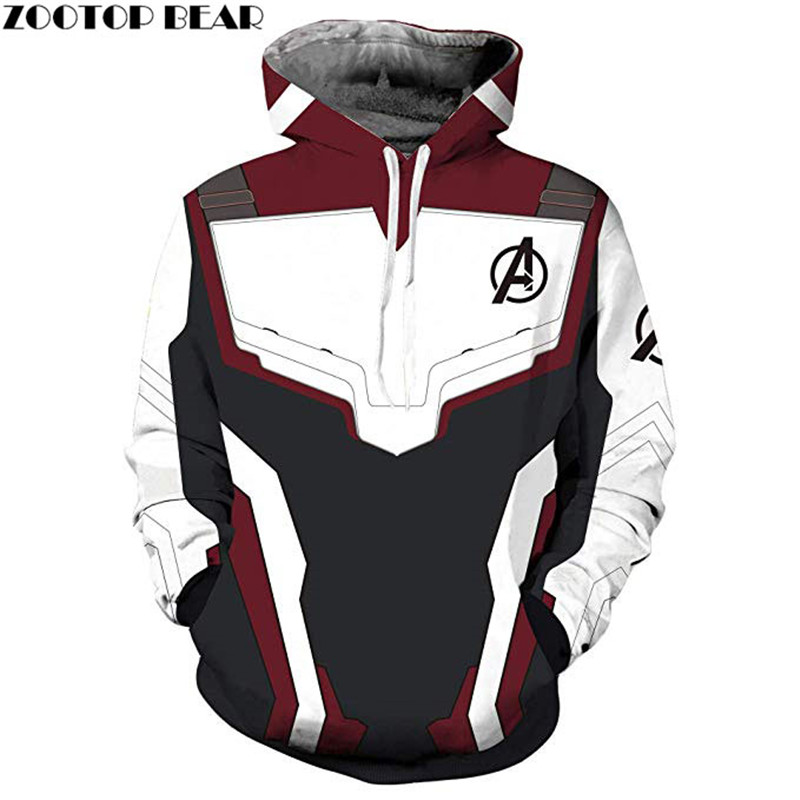Avengers Endgame Mens Hoodies Hip Hop Sport The Avengers Sweatshirts 3d Printed Marvel Pullover Fashion Casual Boy Hoodie
