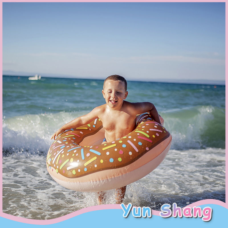 Inflatable 60/90/120cm PVC Swim Swimming Ring Donut Swimming Pool Float Bathing Pool Toy For Kids Adult Party Decoration