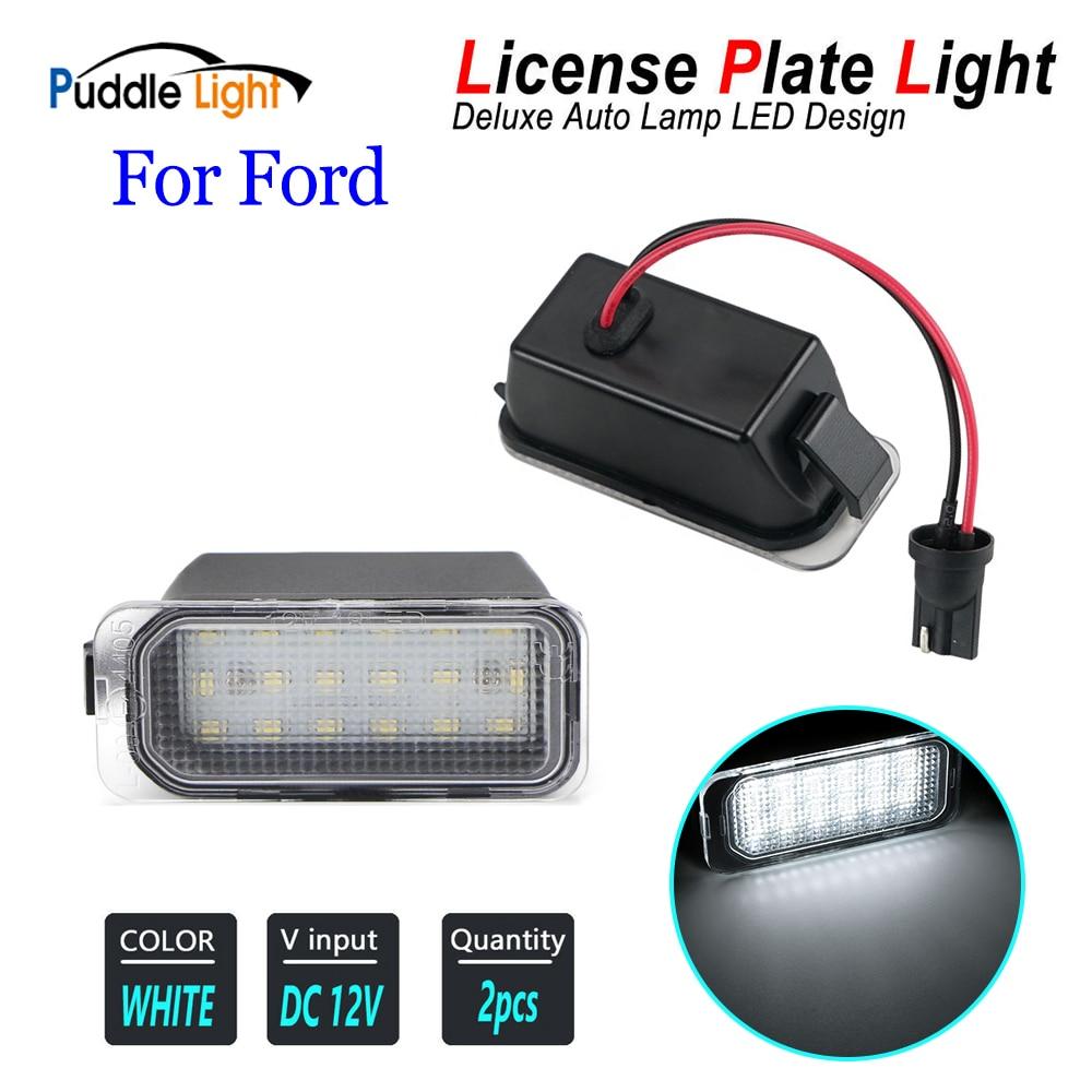 2 pçs carro led número de licença placa luz lâmpadas para ford ecosport galaxy foco mk2 wa6 mk3 explorador fuga trânsito mondeo mk4