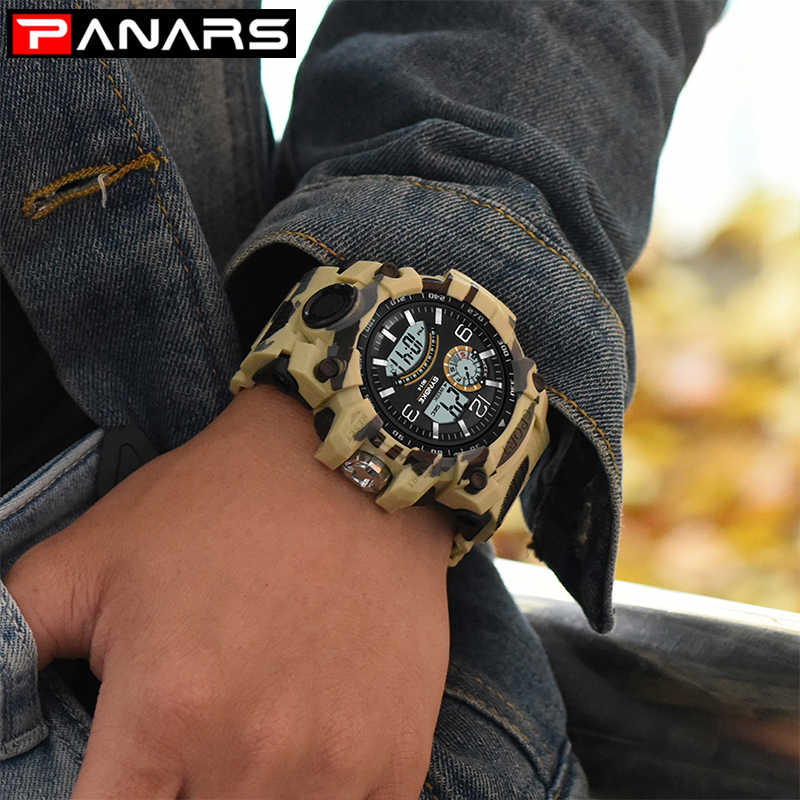 SYNOKE Mens Digital Watches Luxury Brand Sports Life Waterproof LED Military Watch Men Fashion Casual Electronics Wristwatches