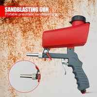 Portátil pneumático oxidação jateamento handheld lixamento gravidade jateamento arma ferramenta de mão leve máquina de energia