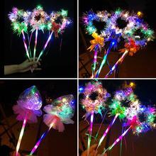 1 предмет светодиодная светящаяся палочка в форме сердца, звезды светящаяся палочка светодиодный световой игрушка вечерние концерт принадлежности для детей, Рождественская игрушка