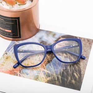 Image 5 - Women Eyeglasses Frame Glasses Transparent Lens Retro Ladies Cat Eye Glasses Vintage Myopia Glasses Frame Eyewear#OR011