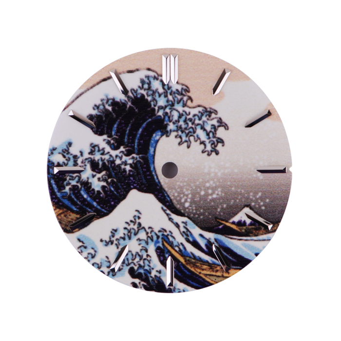 62MAS Watches Dial Literally Full Luminous Kanagawa Surfing Dial 28.5mm Diameter For Modified Male Wrist Watch