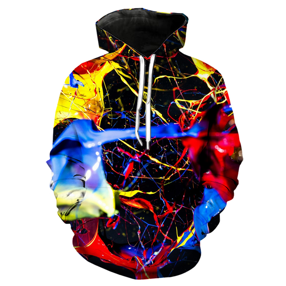 Colorful Paints Hoodie Men 3d Print Hoody/shirts/pants Harajuku Casual Shorts Funny Streetwear Hiphop Oversize Hooded Sweashirts