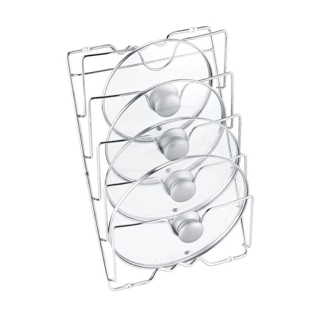 WUHUAROU Support de Rangement pour Couvercle Organisateur de Cuisine en m/étal pour Ranger couvercles de casseroles Planches /à d/écouper et Support dustensiles