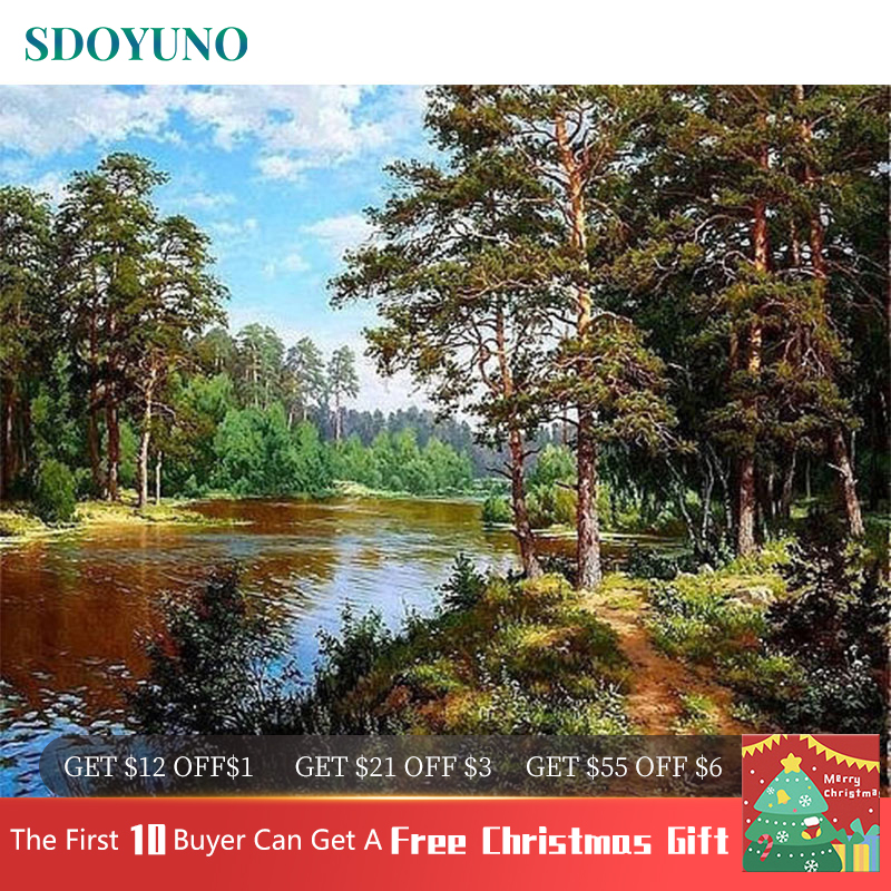 SDOYUNO 60x75cm Frameless Painting By Numbers Nature Landscape pictures by numbers DIY For Home Decoration Gift SDOYUNO 60x75cm Frameless Painting By Numbers Nature Landscape pictures by numbers DIY For Home Decoration Gift