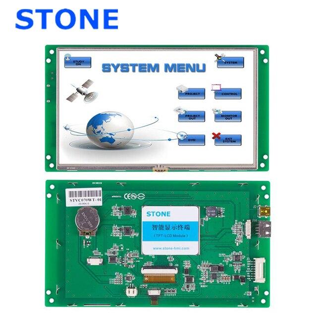 7 אינץ HMI 800*480 מגע תצוגת LCD מודול עם בקר לוח RS232 RS485 TTL USB יציאת