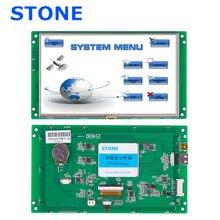 7 Polegada hmi 800*480 módulo de exibição toque lcd com placa controlador e rs232 rs485 ttl porta usb