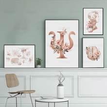 Pintura em tela psicologia imprime arte da parede neurônios cérebro pescoço nervos floral médico poster psiquiatra médico escritório decoração casa