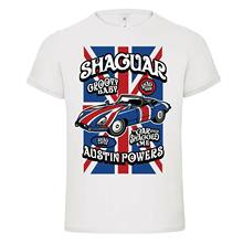 Yang Shaguar Austin Powers Dream Machine Mashup DTG Mens T Shirt Tees Baru 2018 Grosir Tee, 100% Katun Kaos(China)