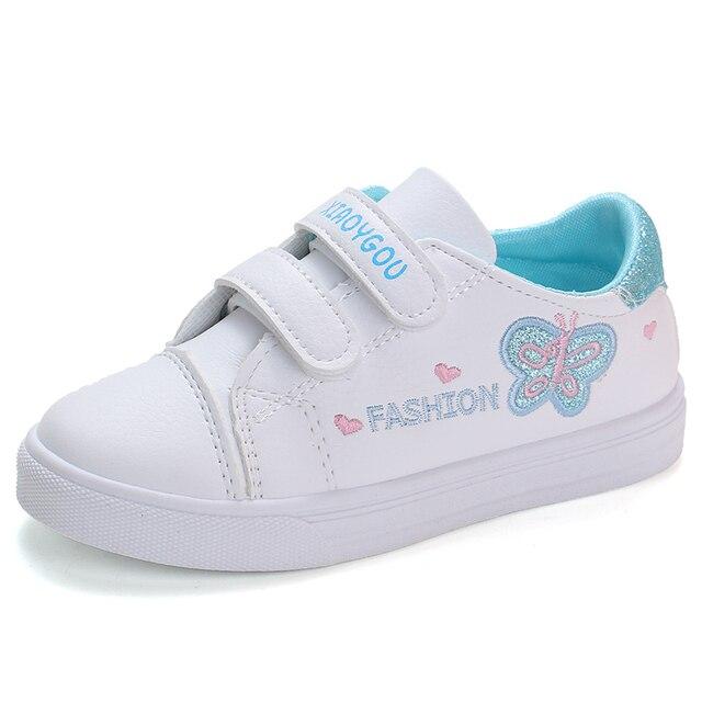 Bekamille ילדי ספורט נעלי סתיו תינוקות בנות תינוק רקמת פרפר נעלי ילדים מקרית נעלי ספורט סטודנט נעלי ריצה