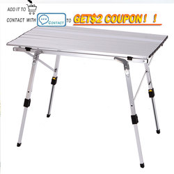 складной стол с полкой и регулировкой по высоте стол для пикника алюминий стол складной туристический стол туристический походный стол отд...