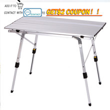 Outdoor Folding Table Chair   Camping Aluminium Alloy Picnic Table Waterproof Durable Folding Table Desk For 90*53cm