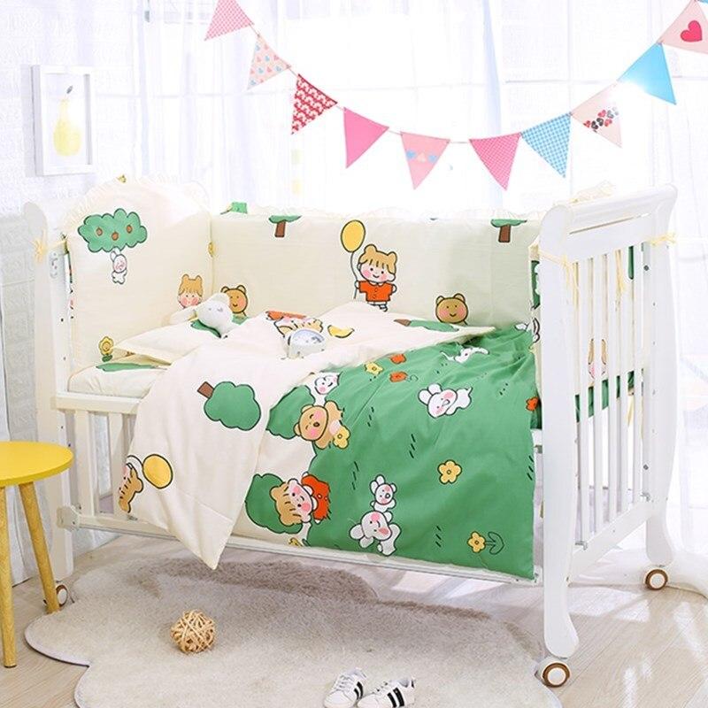 6Pcs Infant Bed Bumper Protector Baby Bedding Set Newborn Crib Cot Bumpers