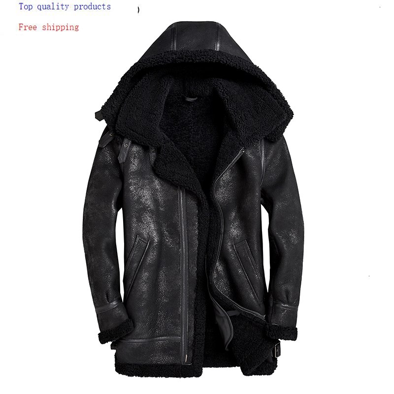 Excelled Leather Mens Big and Tall Lambskin Shirt Collar Bomber Jacket Leather Jacket
