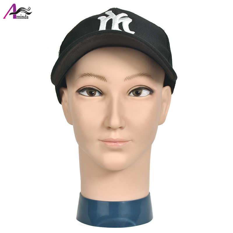 الذكور mannequi شعر مستعار صنع التصميم ممارسة تصفيف التجميل أصلع المعرضة رئيس قبعة رئيس ارتداء عرض أدوات تجميل