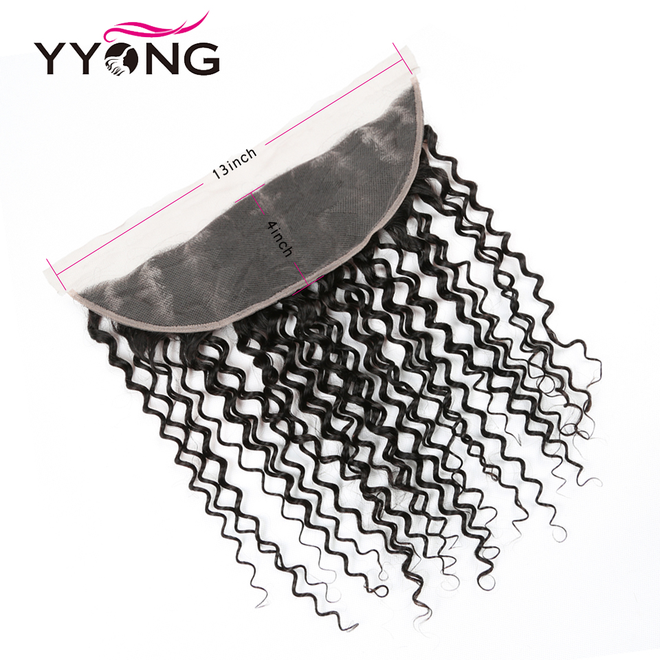 Yyong 13x4 Lace Frontal With Bundles 3/4 Piece   Water Wave  Bundle With Frontal Low Ratio Hair  5