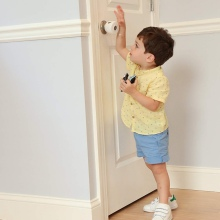Child Door Knob Baby Safety Cover Handle Plastic Locks #22