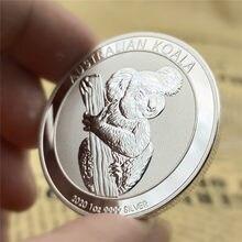 Não-magnético austrália animal prata elizabeth moedas koala + kookaburra + aranha + canguru lembrança presentes transporte da gota