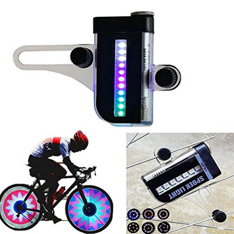 1PC New Two Side 14 LED Colorful Motorcycle Cycling Bicycle Bike Wheel Signal Tire Spoke Light 30 Changes Cycling Accessories