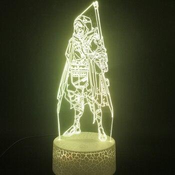 цена на Overwatch 3d LED Night Light for Children Game OW LED 3D Visual Lamp Table Decorative Light Children Christams Gift OW Lamp