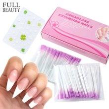Extension d'ongles en fibre de verre, produit de manucure pour modelage avec gel UV, manucure à la française, acrylique, accessoires pour salon, pointes pour les mains, CH1013