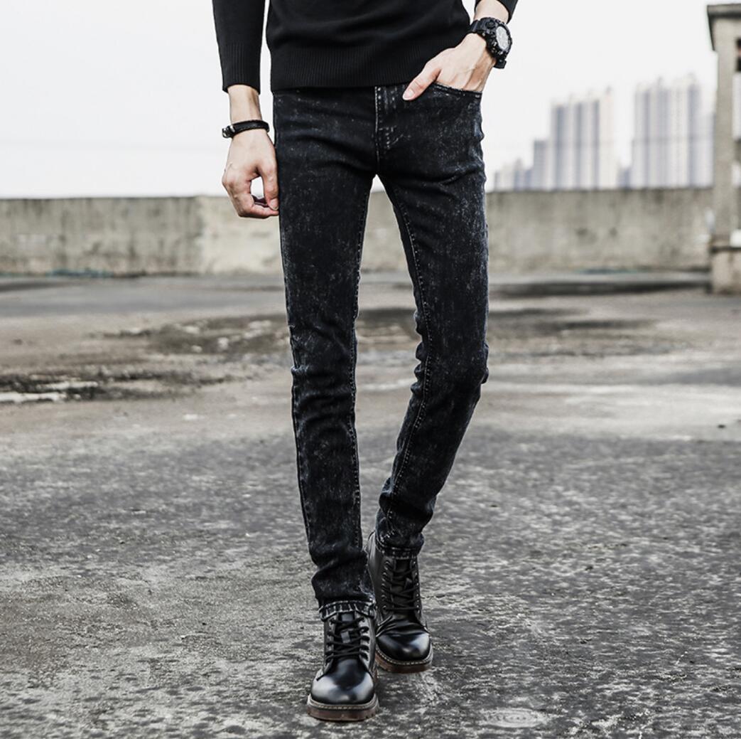 Jeans Men's Slim Stretch Pants Pants Spring Men's And Women's Denim Casual Trousers K9777-1-14