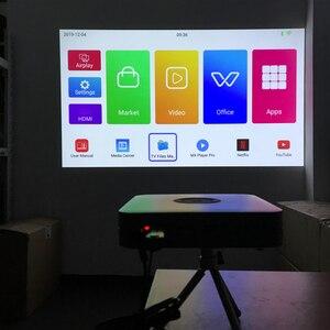 Image 5 - Smartldea K1 HD DLP מקרן אנדרואיד 2G RAM 32G ROM 4K 3D בהירות גבוהה מקרן 5G wifi airplay וידאו משחק proyector