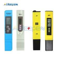 Цифровой измеритель PH 0,00-14,0 PH тестер+ TDS& EC TDS-3 термометр 0-9999us/см 0-9999ppm 0,1-80,0 градусов 3 в 1 монитор воды